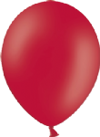 "12"" Pastel/Standard Red Latex Balloon"
